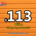 Mega Millions drawing results on 27 August 2019 – Jackpot is $113 Million