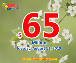 Mega Millions results of August 09, 2019, Jackpot is at $65 million