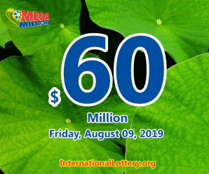 Latest Mega Millions lotto results on August 06, 2019