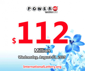 Powerball jackpot climbs to $112 million for Aug 07, 2019 drawing