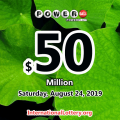 Powerball results of August 21, 2019: One player won the second prize