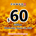 Powerball results for 19/08/24: Jackpot is $60 million