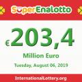 SuperEnalotto jackpot climbs to 203.4 million Euro, Jackpot winner has not appeared yet