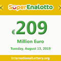 Jackpot SuperEnalotto is becoming hotter with 209 million Euro
