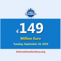 EuroMillions Jackpot still is the most significant jackpot in the world with €149 million euro
