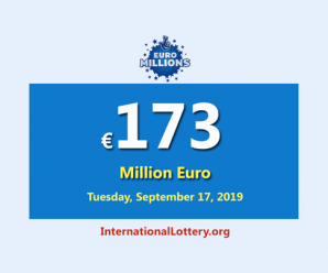 EuroMillions Jackpot is €173 million euro – the biggest jackpot now