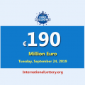 EuroMillions Jackpot remains the most significant jackpot with €190 million
