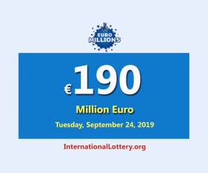 EuroMillionsJackpot remains the most significant jackpot with €190 million
