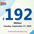 Mega Millions jackpot is waiting the owner, It is $192 million now