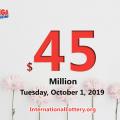Results of Sept 27, 2019: Mega Millions jackpot raises to $45 million