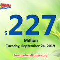 Mega Millions jackpot swells to $227 million for 24 Sept, 2019