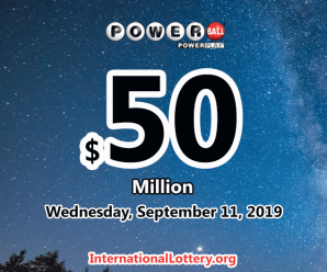 Four second prizes of Powerball on Saturday 07 Sept, 2019