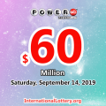 Powerball lottery results on 11 Sept 2019