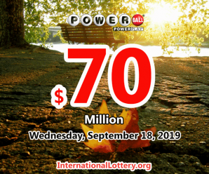 Jackpot Powerball stands at $70 million for 18 Sept, 2019