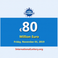 EuroMillions Jackpot stands at €80 million euro