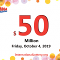 Mega Millions results of October 01, 2019; Jackpot stands at $50 million