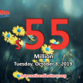 Mega Millions results of October 04, 2019; Jackpot now is $55 million