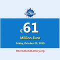 EuroMillions jackpot raises to €61 million euro for October 25, 2019