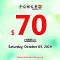 Powerball rolls over to $70 million for October 05, 2019