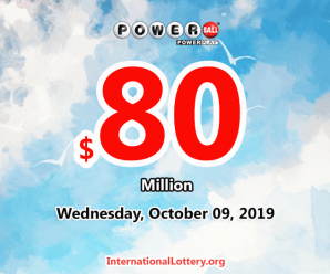 Who will win the next $80 million Powerball jackpot on October 9, 2019?