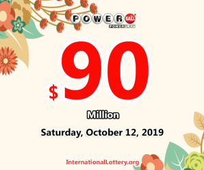 Powerball stands at $90 million for October 12, 2019