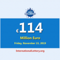 EuroMillions Lottery is the second-largest jackpot in the world with €114 million euro
