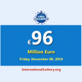 EuroMillions Lottery is the second-largest jackpot in the world with €96 million euro