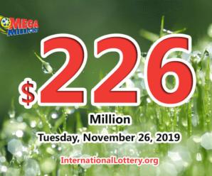 No Mega Millions winner; Tuesday jackpot stands at $226 million