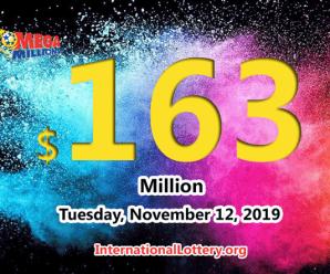 Mega Millions results of November 08, 2019, Jackpot is at $163 million