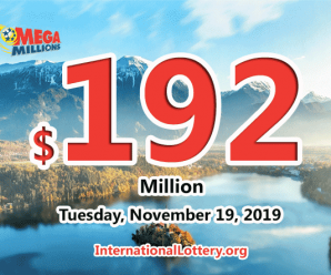 One California player won the first prize; Mega Millions jackpot rises to $192 million