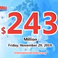243 million dollar jackpot of Mega Millions is the world's first-largest