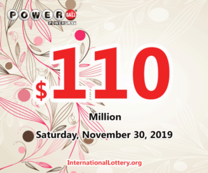 Result of Powerball on November 27, 2019: Jackpot is $110 million now