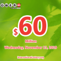 Powerball results of November 09, 2019: One player won the second prize