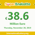 Jackpot SuperEnalotto is becoming hotter with 38.6 million Euro