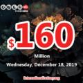 One Maryland player won $1 million; Powerball jackpot jumps to $160 million on Dec 18, 2019