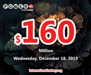 One Maryland player won $1 million; Powerball jackpot jumps to $160 million on Dec 18, 2019