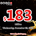 No winner of Powerball jackpot; 1 second prize on Saturday , December 21, 2019