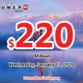 Who will win the next $220 million Powerball jackpot on January 01, 2019?