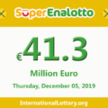 Jackpot SuperEnalotto raises to 41.3 million Euro