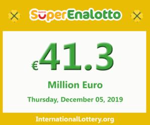 Jackpot SuperEnalotto raises to 41.3 million Euro