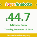 Jackpot SuperEnalotto jackpot stands at 44.7 million Euro
