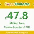 Jackpot SuperEnalotto raises to 47.8 million Euro