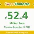 Jackpot SuperEnalotto is raising to 52.4 million Euro after Christmas