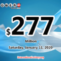 Who will win the next $277 million Powerball jackpot on January 11, 2020?