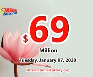 Mega Millions results of January 03, 2020; Jackpot now is $69 million