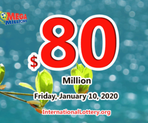 The results of Mega Million on January 07, 2020; Jackpot is $80 million