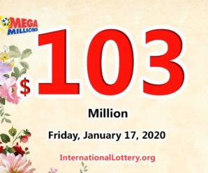 1 winner got $1 million; Mega Millions jackpot raises to $103 million
