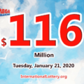 Mega Millions stands at $116 million: 1 player won the second prize