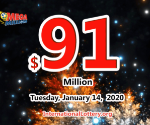 One player won $1 million; Mega Millions jackpot increases to $91 million