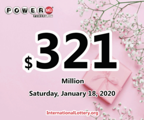 Powerball rolls over to $321 million for January 18, 2020